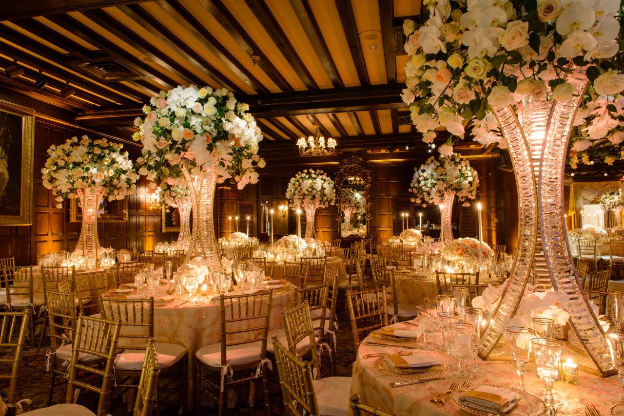 Wedding venues castles estates hotels gardens in ny nj for Hotel wedding decor