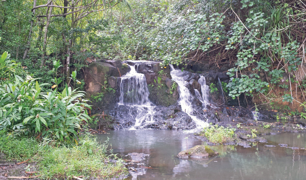 Waterfall at Princeville Ranch