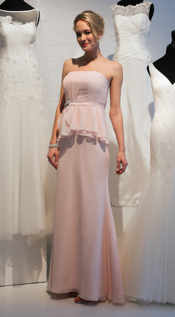 David's Bridal, Bridesmaid, Full Length Pastel