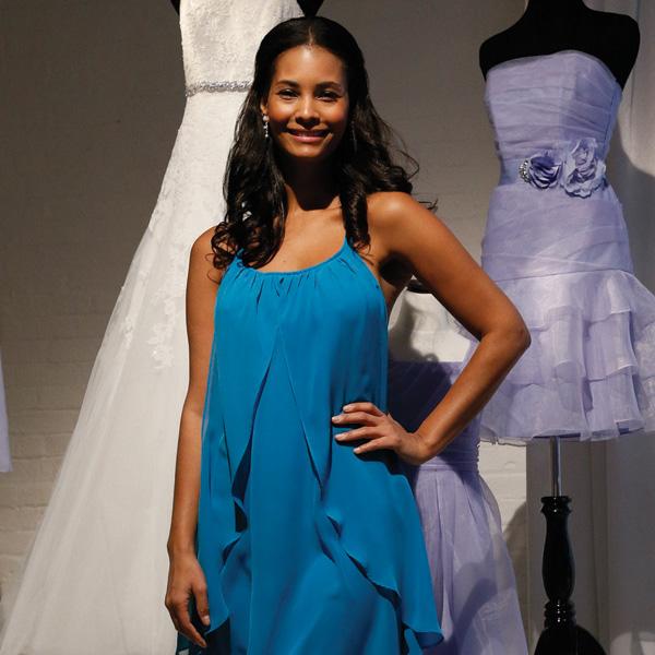 David's Bridal, Bridesmaid, Sapphire Blue