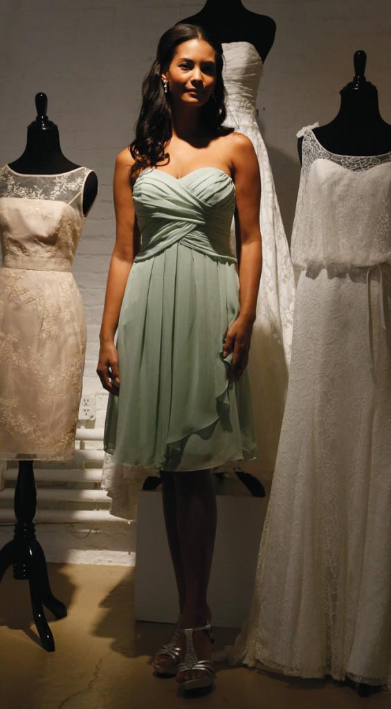 David's Bridal, Bridesmaid, Short and Stylish
