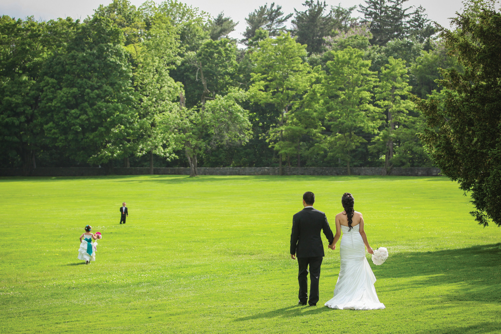 Glen Cove Mansion, Outdoor Wedding Day