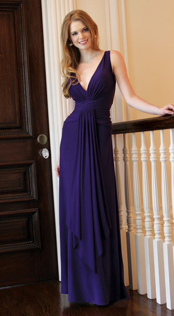 Oleg Cassini Bridesmaid, Royal Blue Full Length