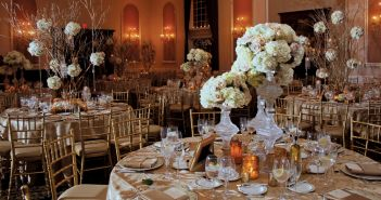 The Estate at Florentine Gardens, Wedding Ballroom Decor (photo: Stark Studio NJ)