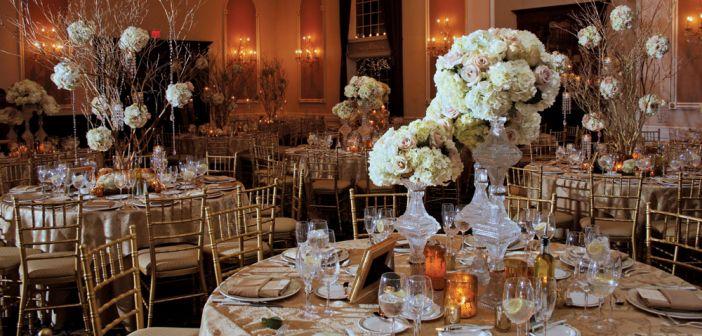 The Estate at Florentine Gardens, Wedding Ballroom Decor (photo: Stark Studio NJ)