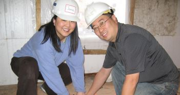 Jeanne and John volunteering with Habitat for Humanity NYC