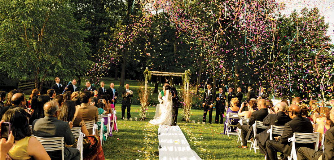 Hilton Pearl River, Outdoor Ceremony, with Confetti!