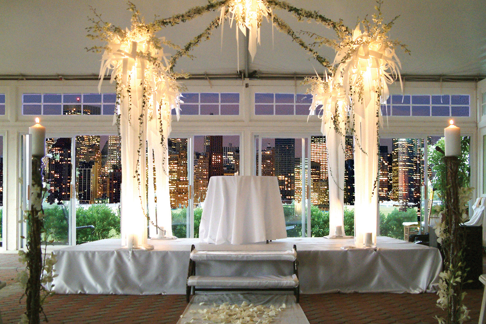 Liberty House, Wedding Ceremony with a Skyline View