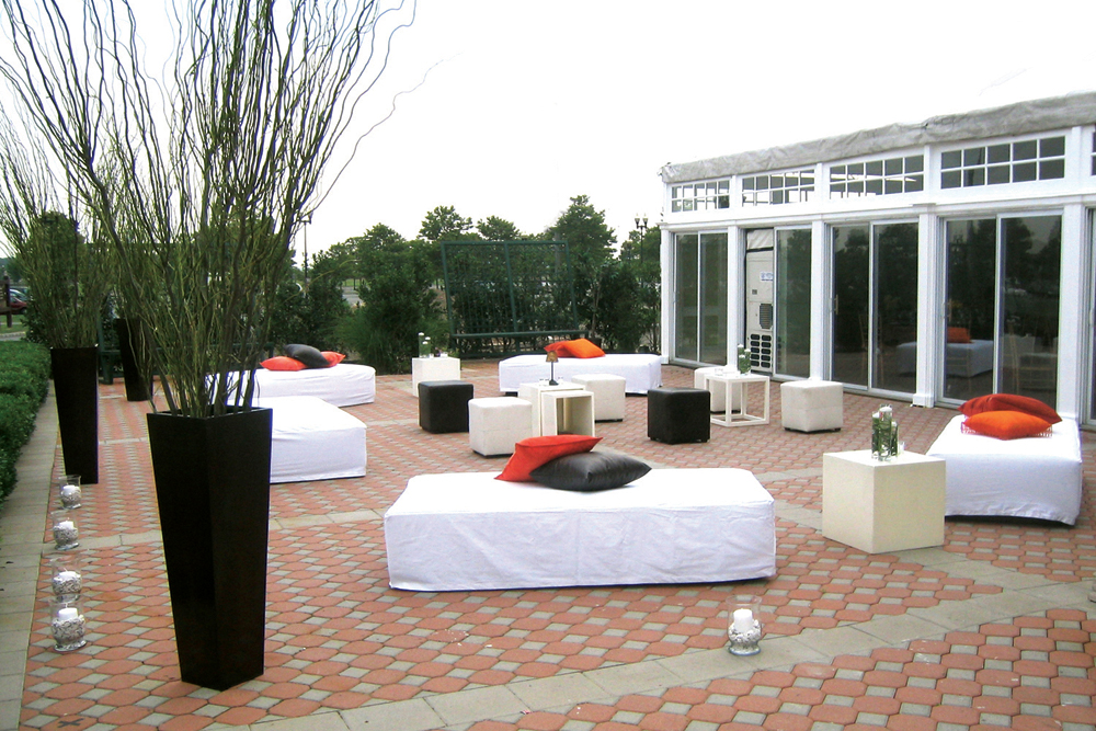 Liberty House, The Bride's Casual Outdoor Lounge Seating