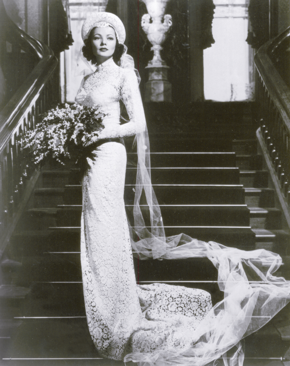 "Cassini Gown, worn by Gene Tierney in ""The Razor's Edge"" with Tyrone Power"