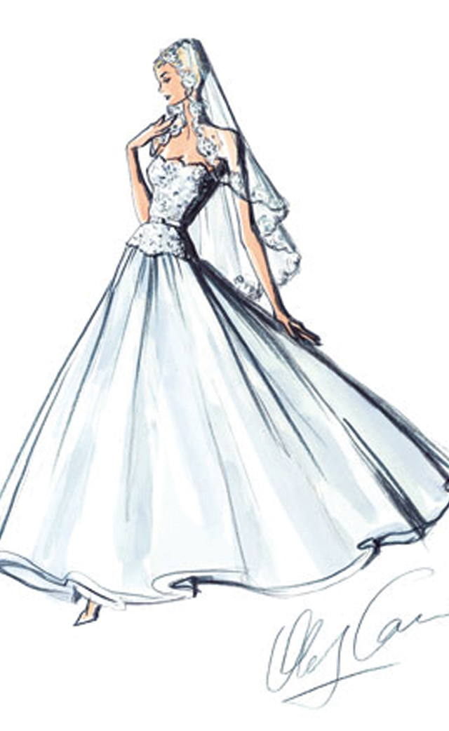 Oleg Cassini, Gown Sketch