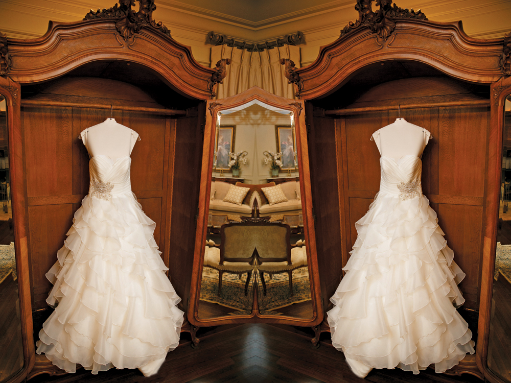 The Park Savoy Estate, Bridal Gown + Mirror Image (Milton Gil Photographers)