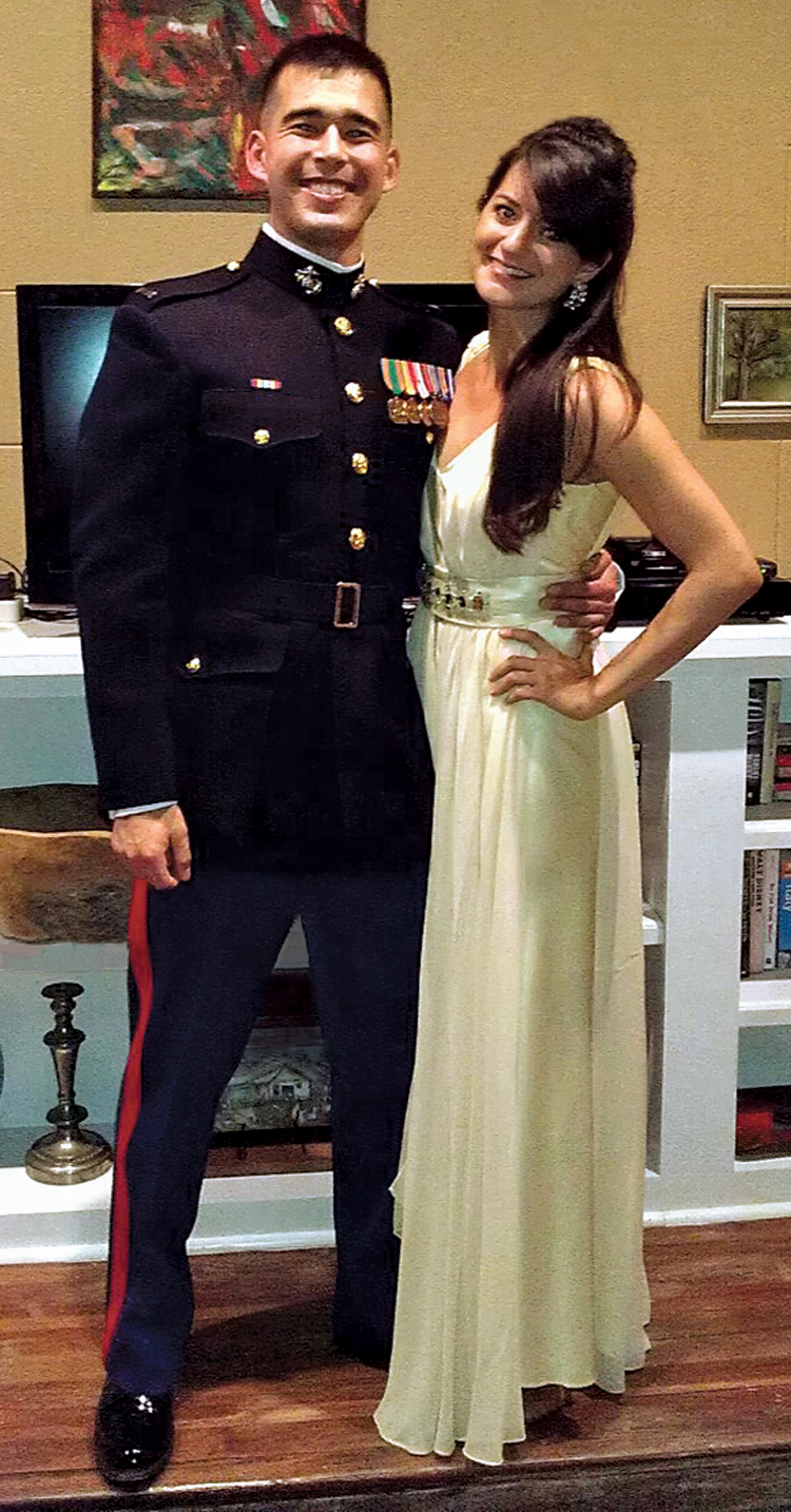Amanda Lynch, with her partner Brandon