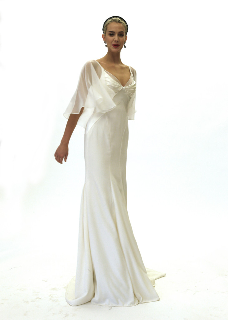 Zac posen glamorous sheath v neck wedding gown for Zac posen wedding dress price