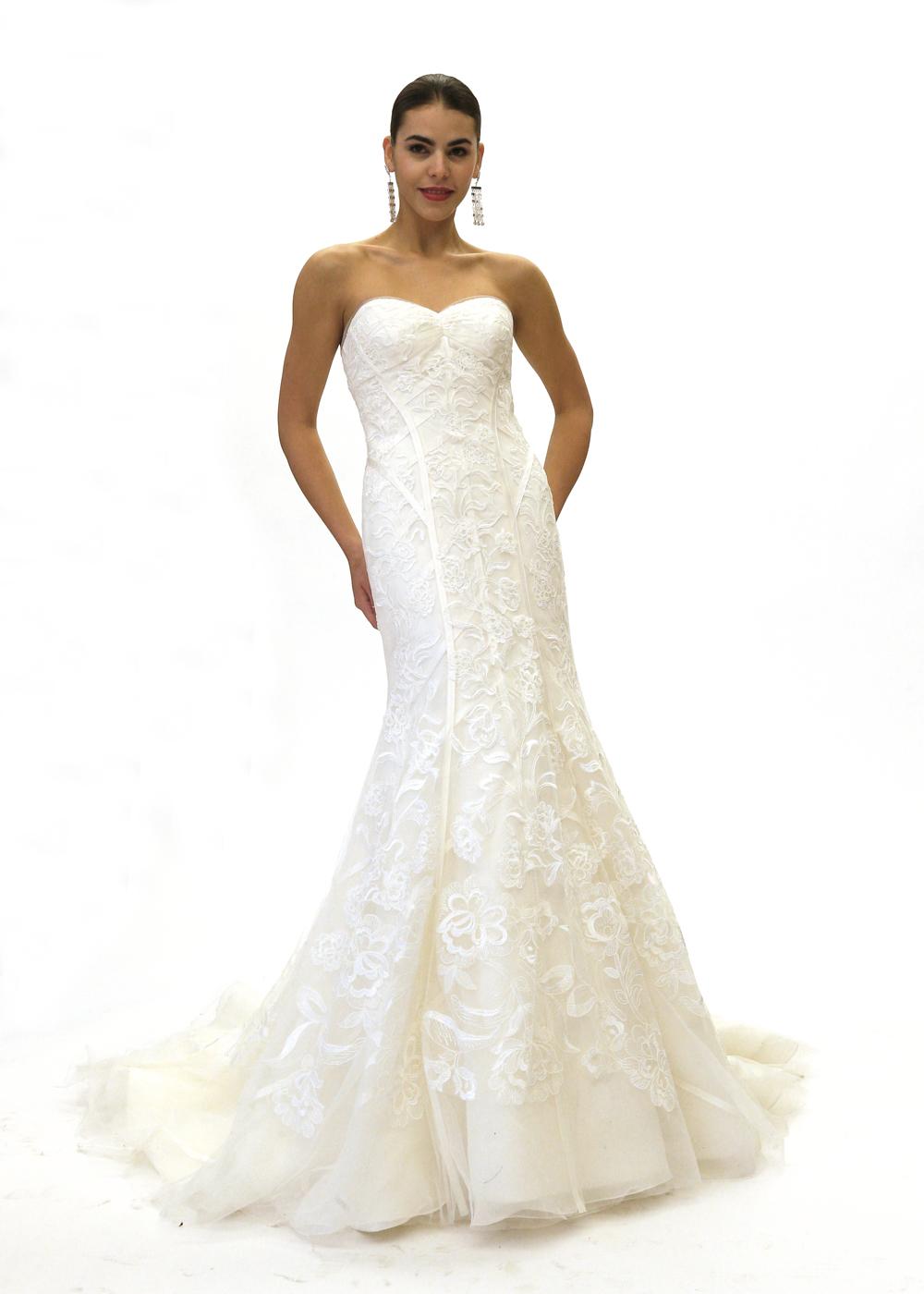 Zac Posen Classic Strapless Mermaid Wedding Gown