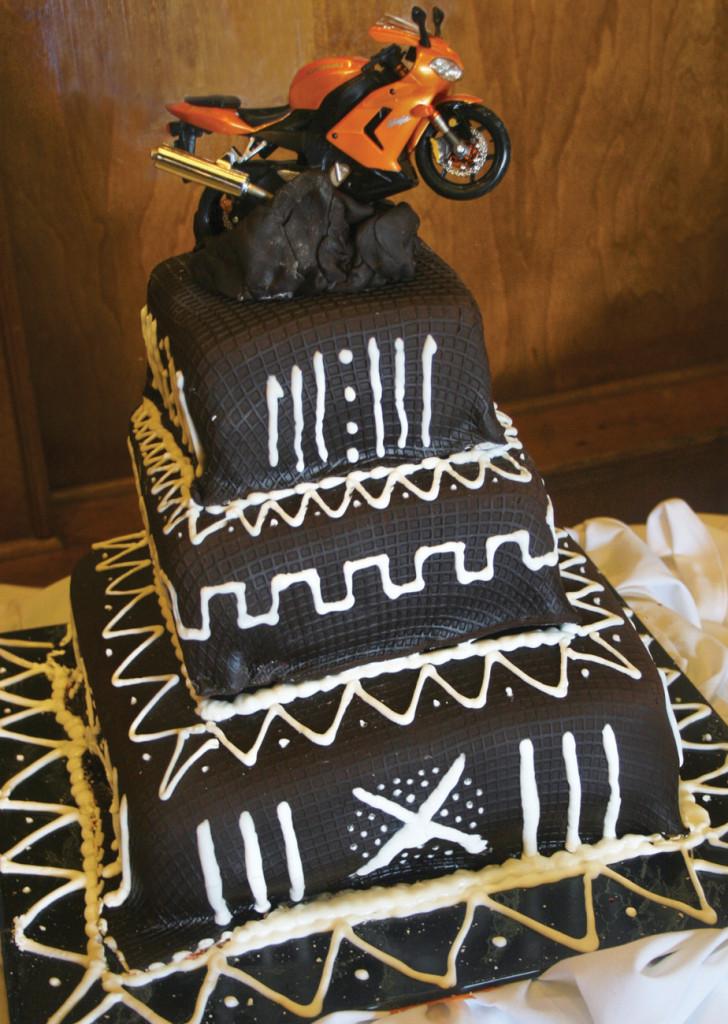 African American wedding cake