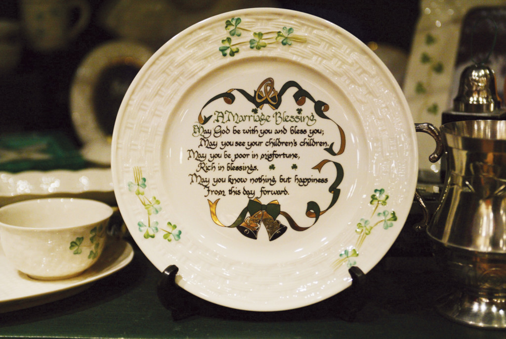Irish wedding traditions plate