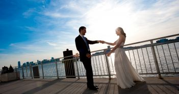 Abigail Kirsch Exclusive Venues, on the terrace at Chelsea Piers