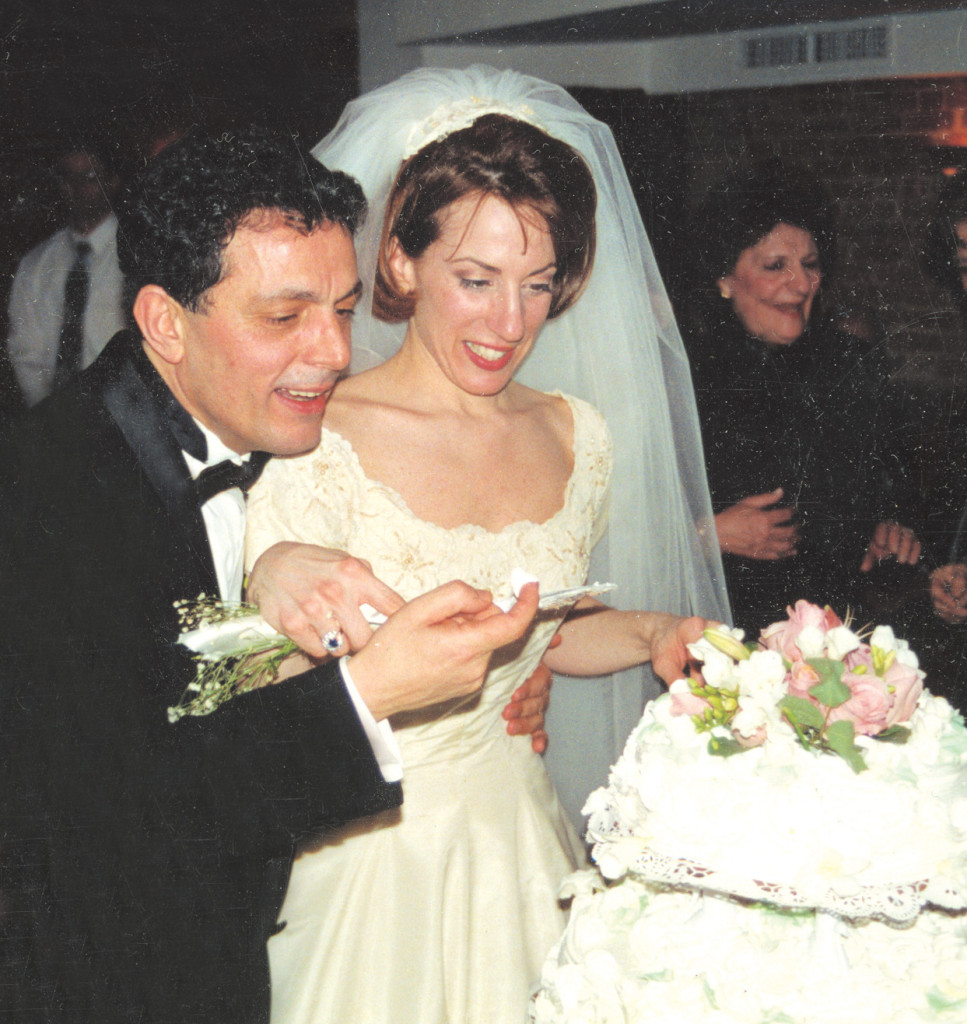 Nino and Pam on their wedding day