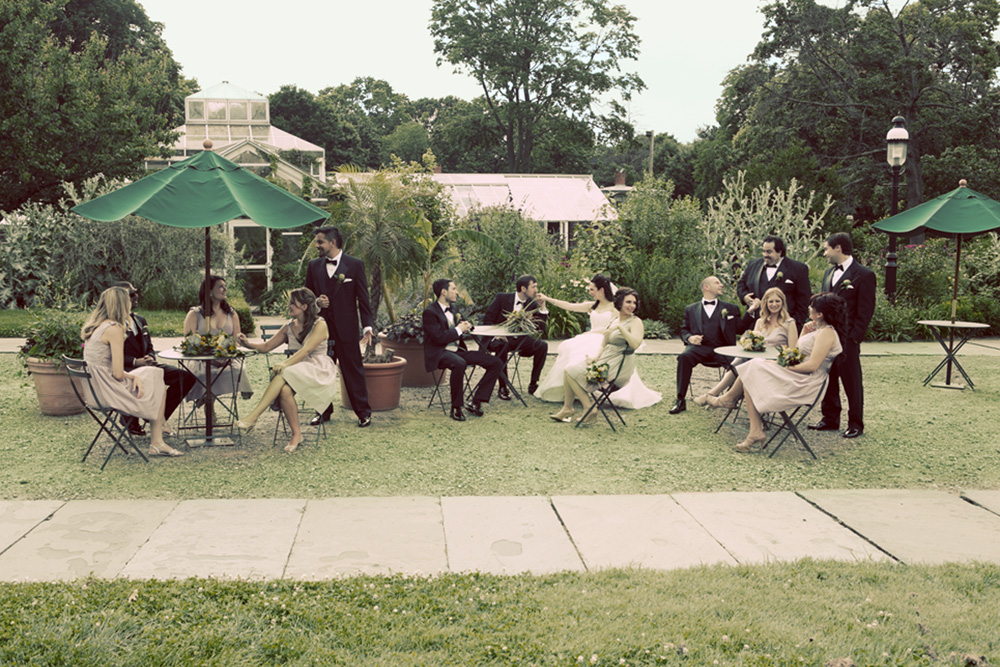 Celebrate at Snug Harbor, Bridal Party, White Garden (Lauren Bruen Photography)