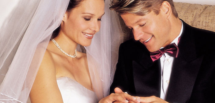 Just Married, admiring their new rings and all that they mean