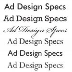 Ad Design Specs-Font Samples Layout