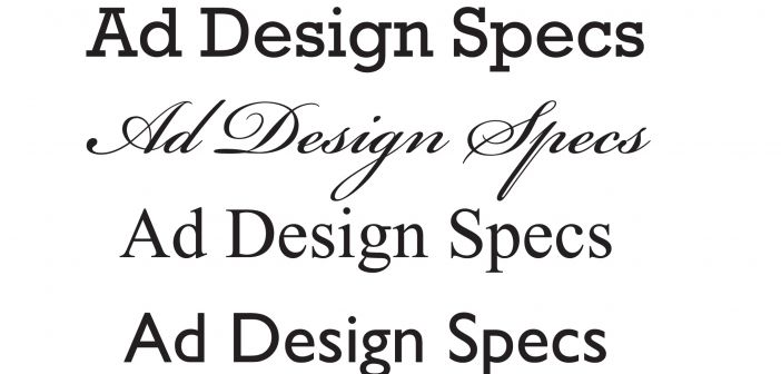 Ad Design Specs-Font Samples