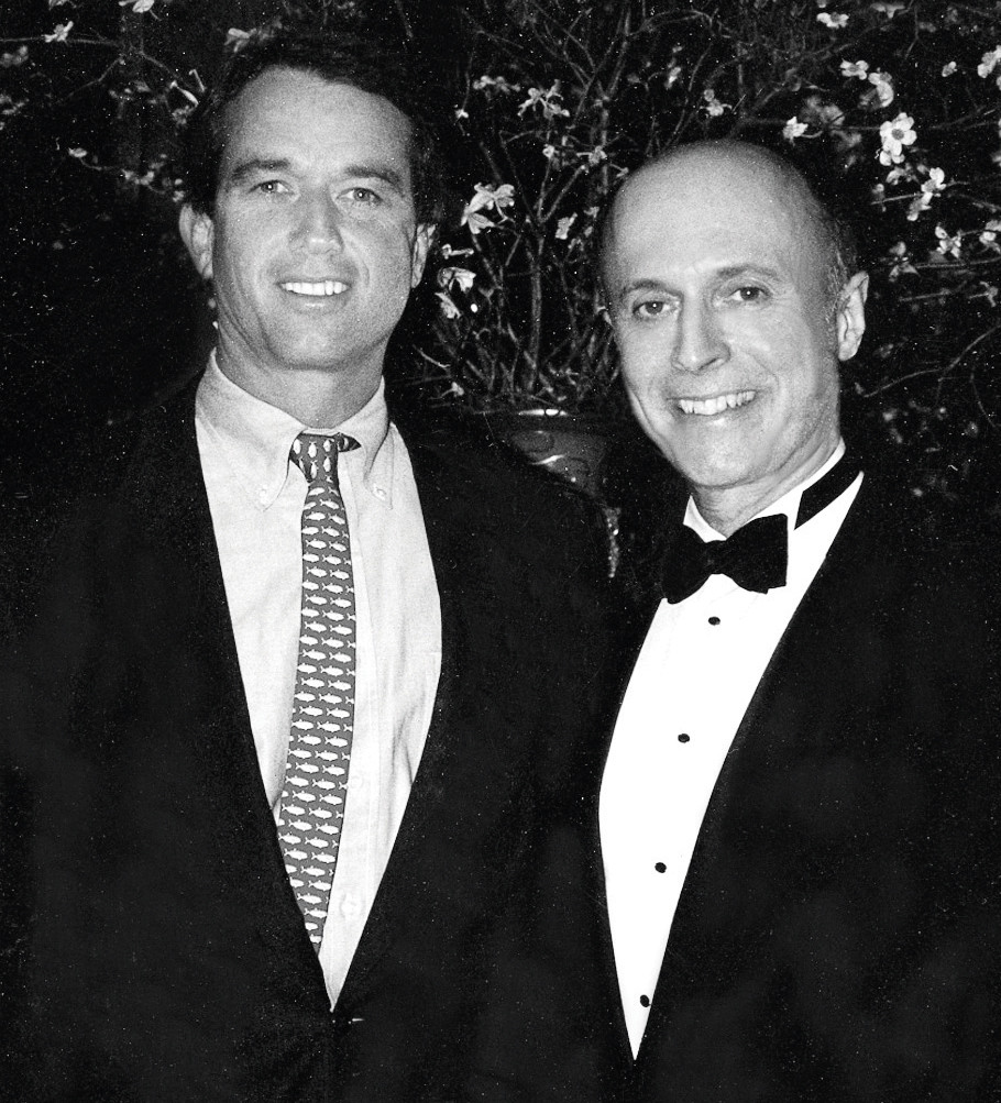 At his charity events over the years ... Rick Bard with environmental advocate Bobby Kennedy Jr.