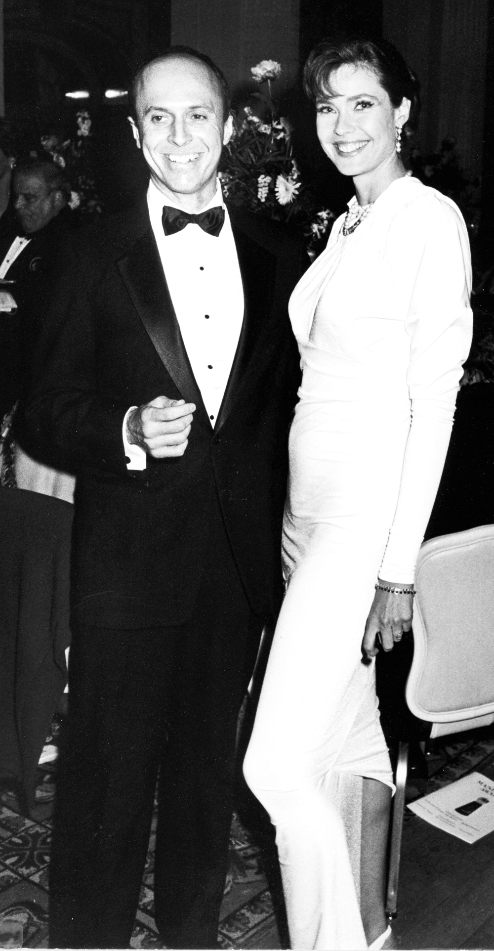 At his charity events over the years ... Rick Bard with supermodel Carol Alt