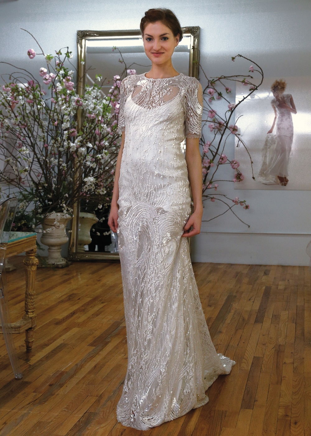 Elizabeth Fillmore Glamorous Mermaid Wedding Gown