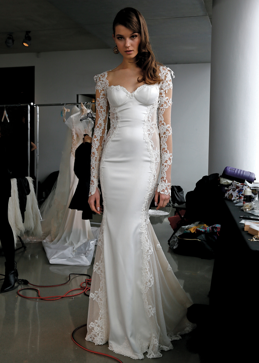 Galia Lahav Alluring Long Sleeve Trumpet Wedding Gown