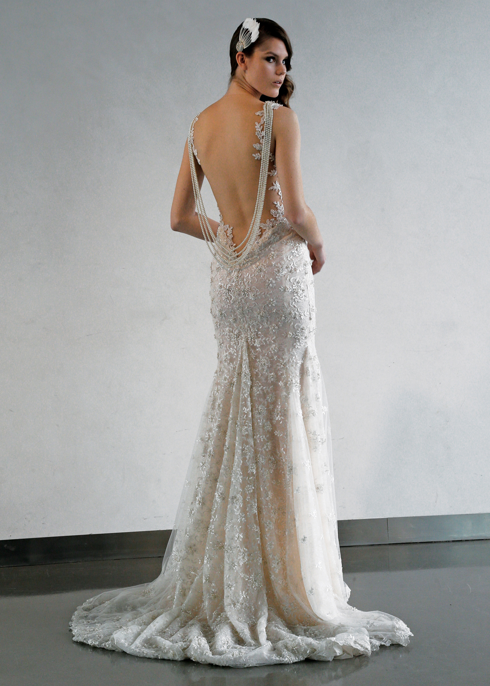 Galia Lahav Glamorous Backless Fit To Flare Wedding Gown