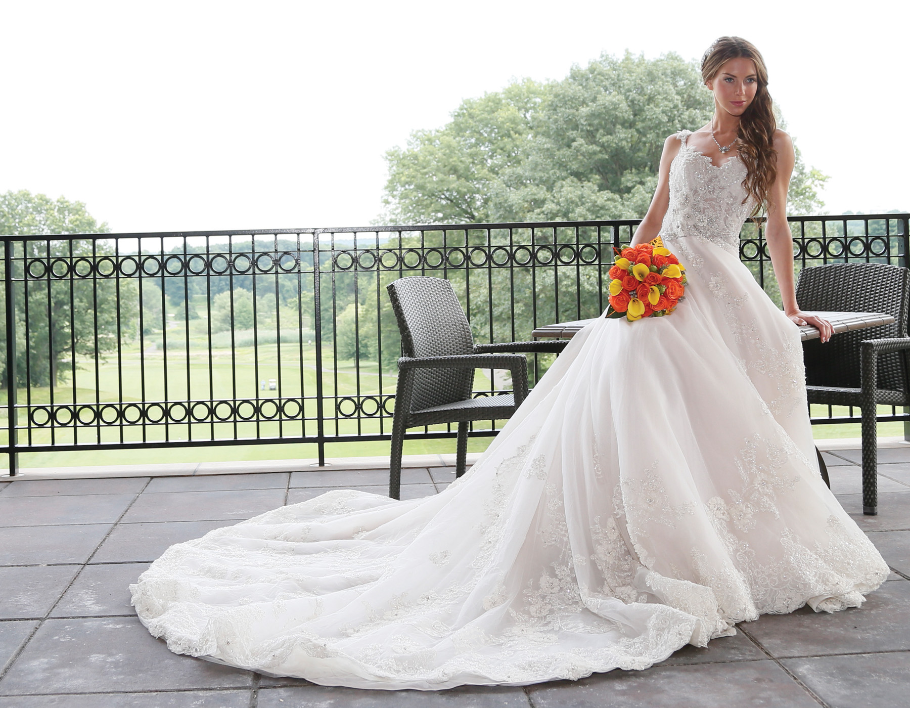 Bridal Wedding Gowns New York, New Jersey - Trains