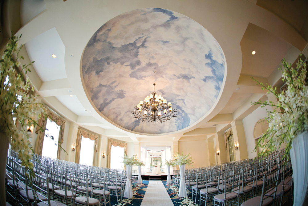 Hilton Pearl River, indoor ceremony (Janelle Brooke Photography)
