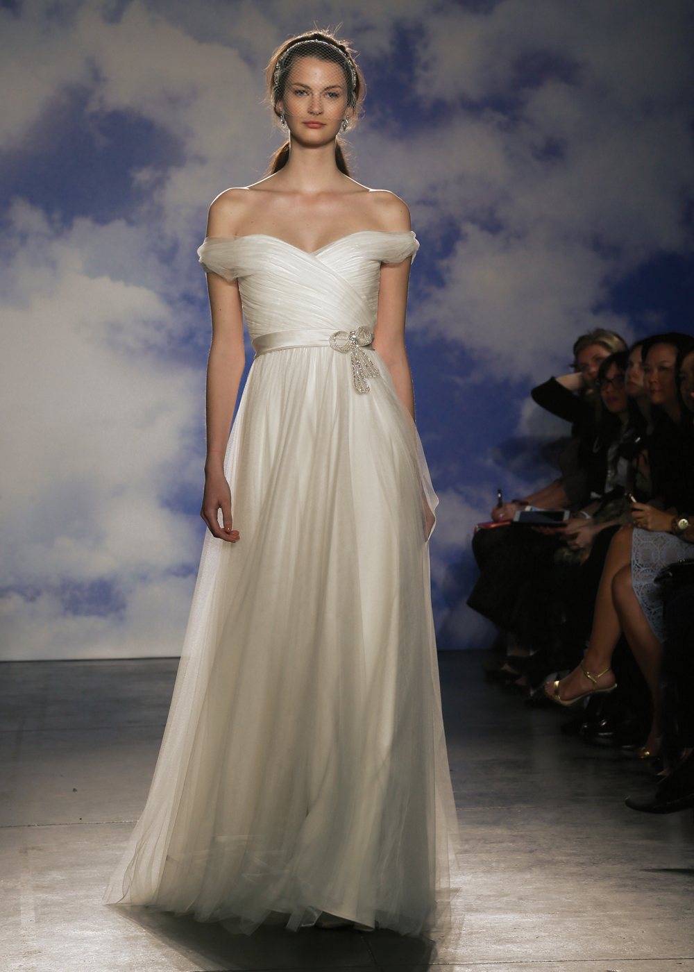 Jenny Packham Off-the-Shoulder A-Line Wedding Gown