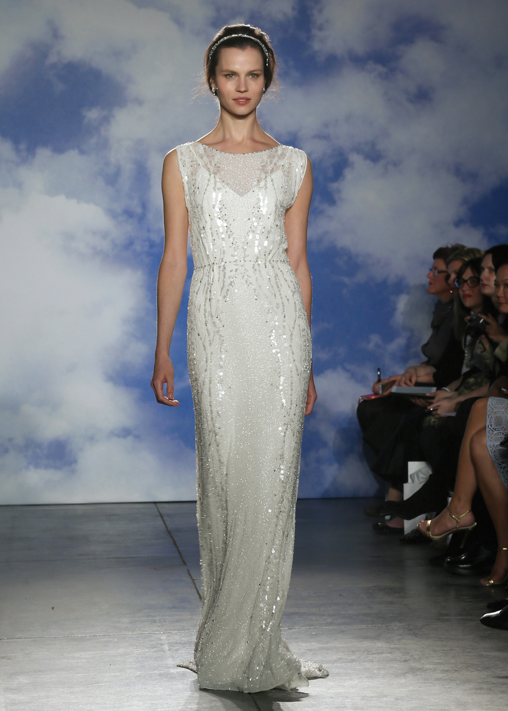 Jenny Packham Avant-garde Sheath Wedding Gown