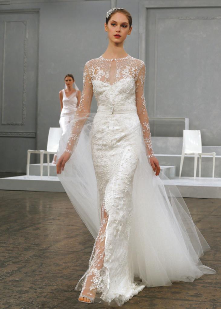 Monique lhuillier vintage sheath wedding gown for Price of monique lhuillier wedding dresses