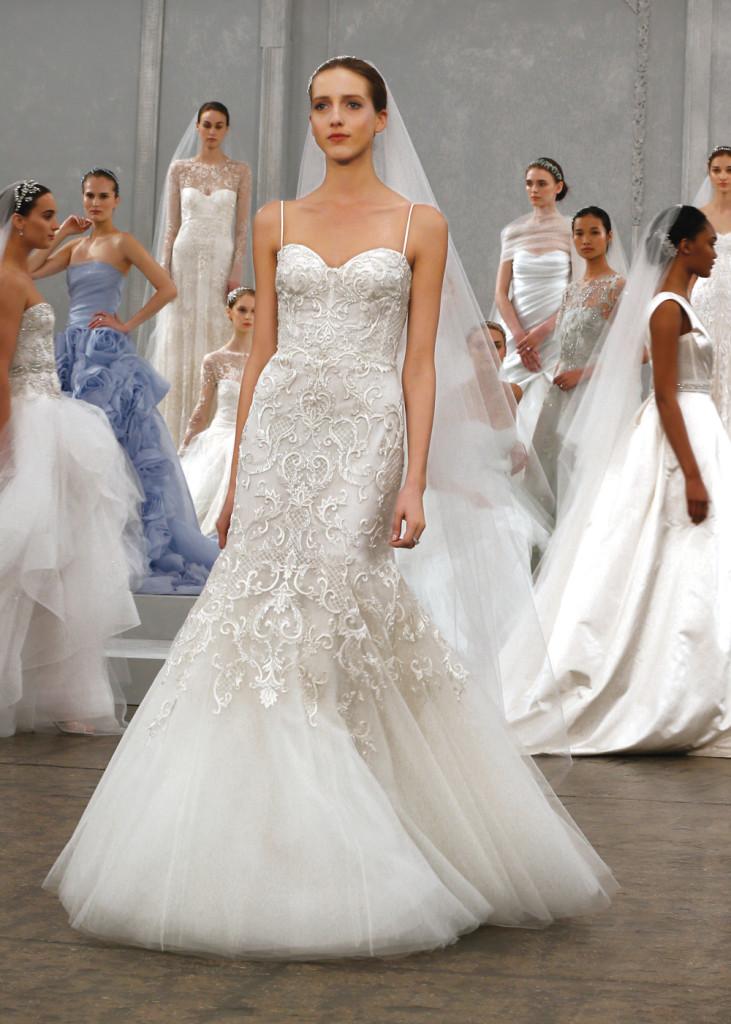 Monique lhuillier vintage mermaid wedding gown for Monique lhuillier wedding dress price