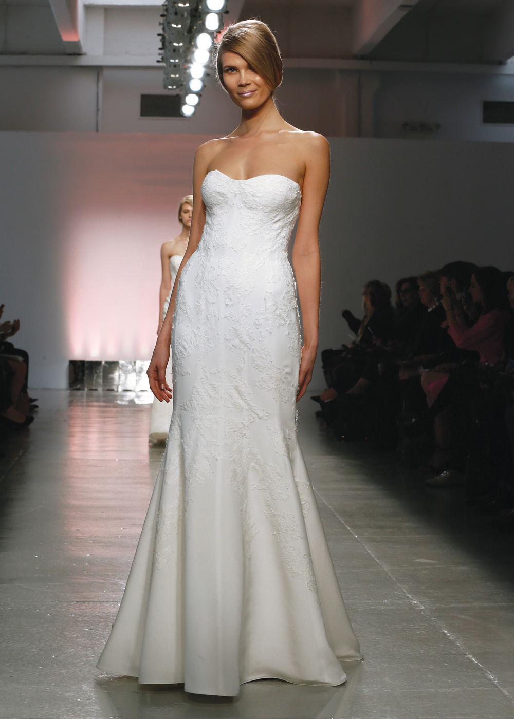 Rivini Classic Strapless Trumpet Wedding Gown