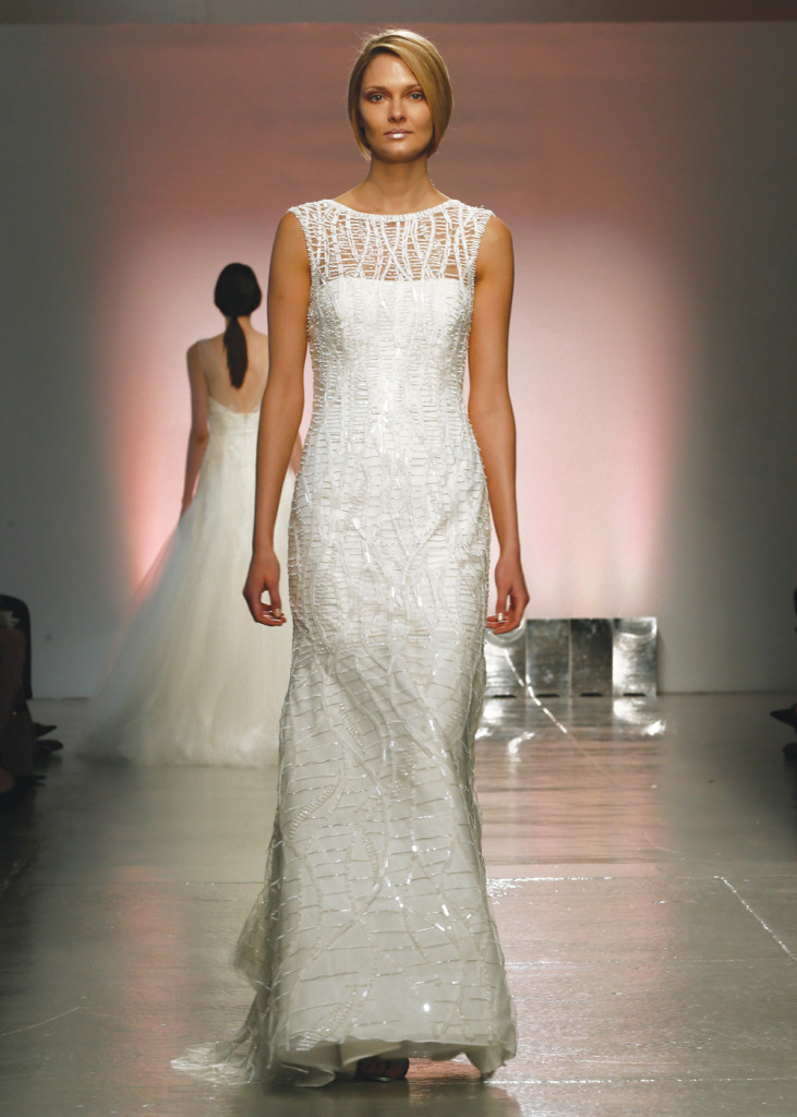 Rivini Classic Sleeveless Fit To Flare Wedding Gown
