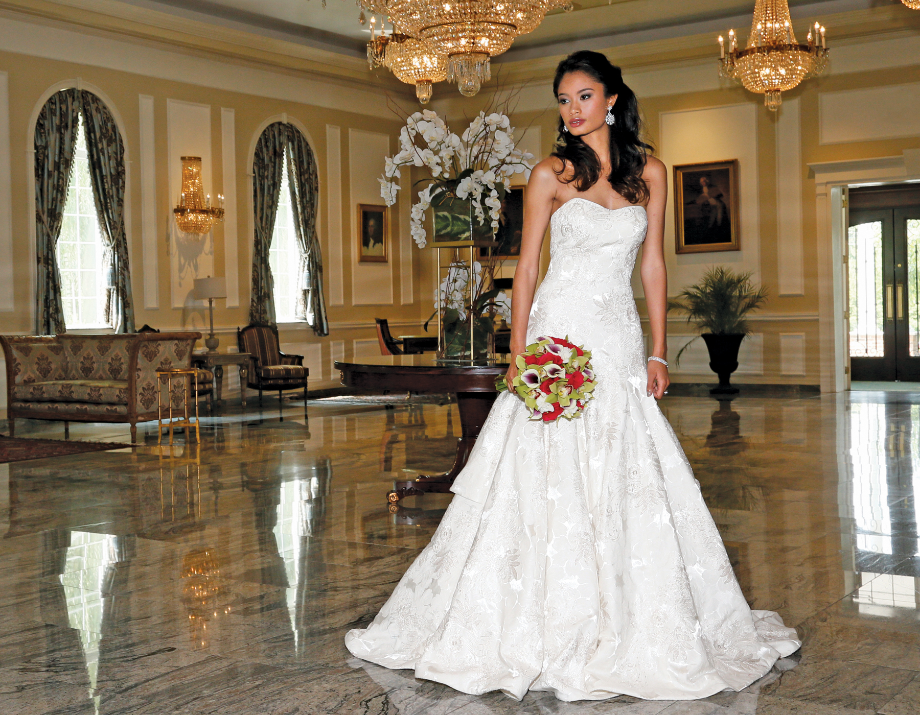 Oleg Cassini Bridal Wedding Fashions in NYC
