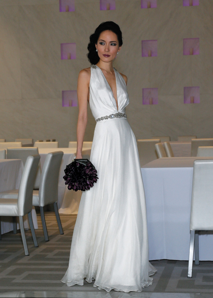 Gown:  Elen Paumere (Marilyn, $3,900) at Designer Loft