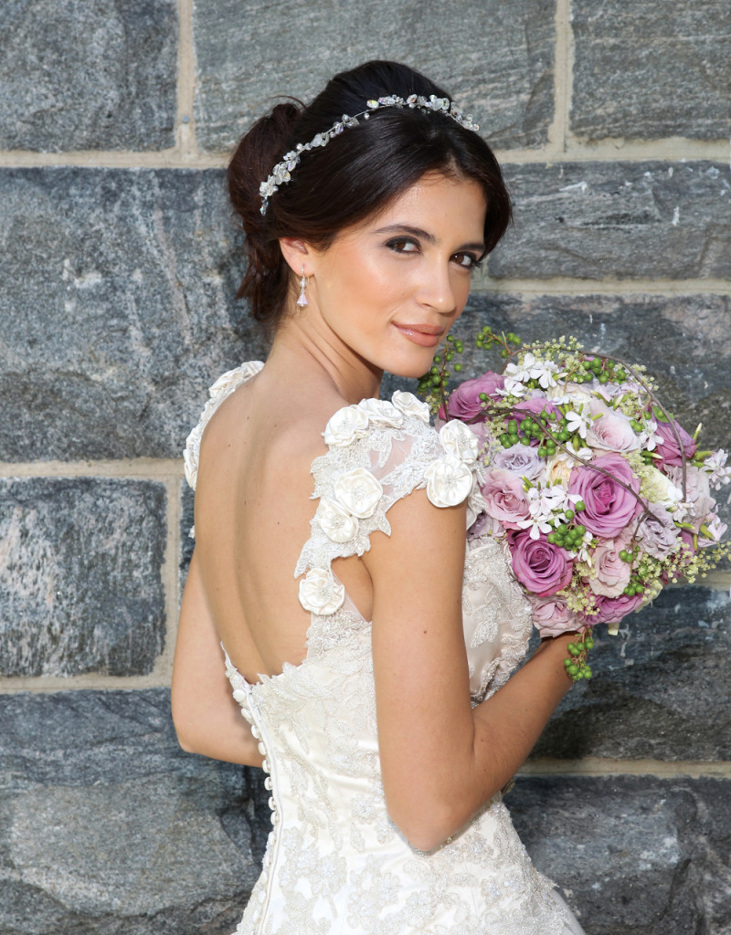 Bouquet: Mitch Kolby Events. Gown: Eve of Milady