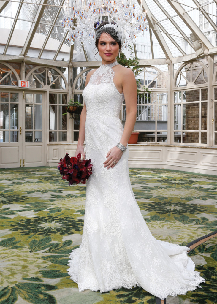 Gown: Oleg Cassini at David's Bridal (CWG666, $1,150)