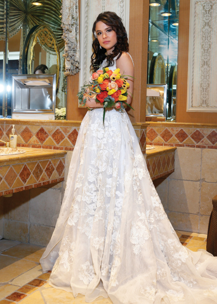 Gown: Oleg Cassini at David's Bridal (CWG658, $1,750)