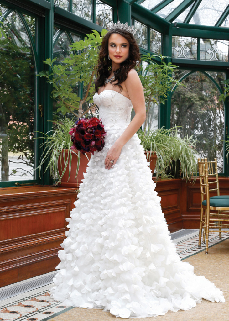 Gown: Oleg Cassini at David's Bridal (CWG660, $1,850)