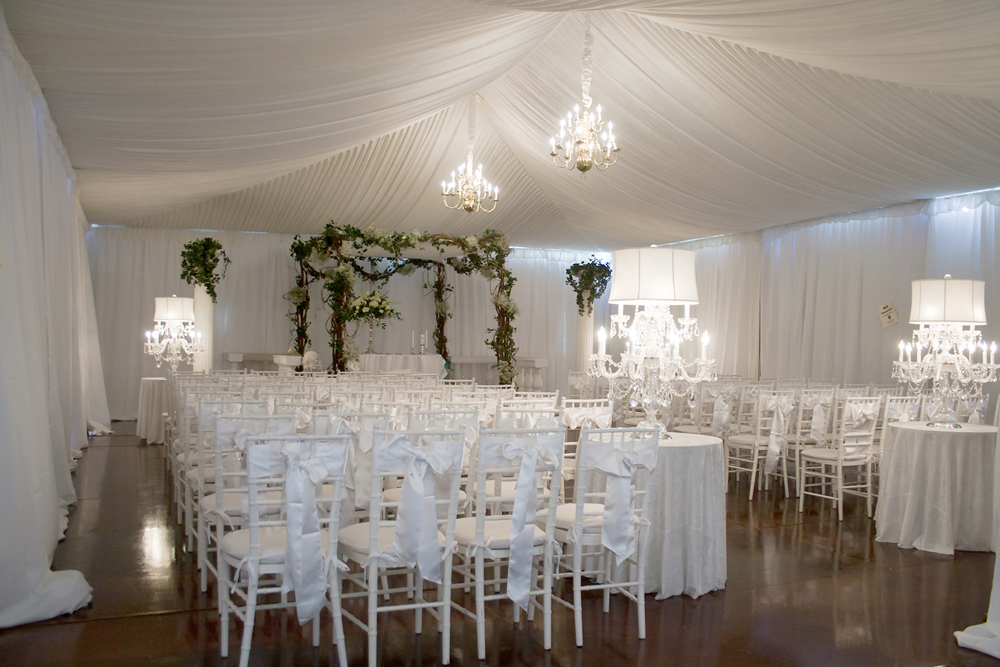 The Skylands Manor, tented ceremony