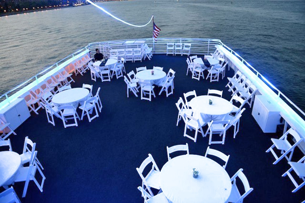 Smooth Sailing, white rooftop event