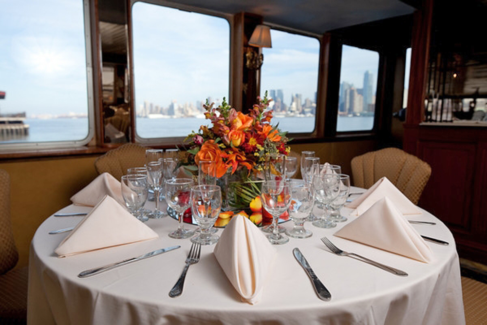 Smooth Sailing, Royal Princess table setting, skyline views