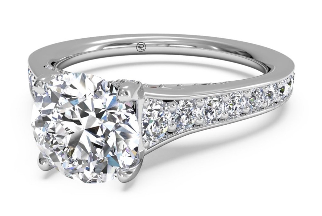 ritani tapered diamond band engagement ring - Ritani Wedding Rings